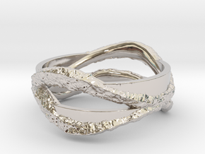 Full Dual Stone Ring in Rhodium Plated Brass: 5 / 49
