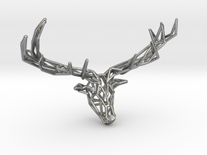 Untamed: The Deer Pendant in Natural Silver: Small