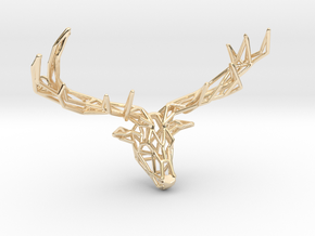 Untamed: The Deer Pendant in 14k Gold Plated Brass: Small
