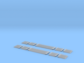 N Gauge Polymer Anti-trespass Panels Setrack 55 in Smooth Fine Detail Plastic: 1:148