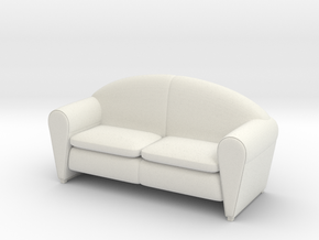 Sofa 1/18 002 in White Natural Versatile Plastic: 1:18