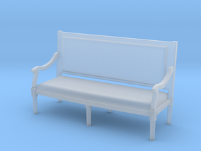 1:144 Louis XVI Sofa - Settee Straight Back in Frosted Extreme Detail