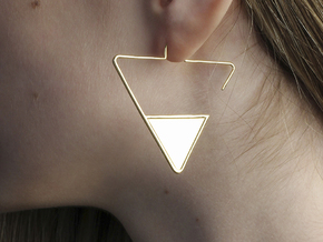 FLAT Nº 2 EARRINGS in 14k Gold Plated Brass