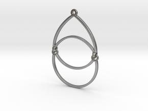 BlakOpal Open Teardrop Earring in Natural Silver (Interlocking Parts)