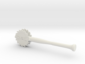 Baseball Bat with Sawblades in White Natural Versatile Plastic