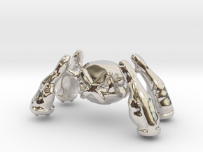 Metagross in Rhodium Plated Brass