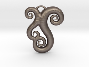 Sea Swirls in Polished Bronzed Silver Steel