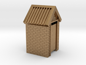 N Scale Brick Outdoor Toilet Dunny 1:160 in Natural Brass