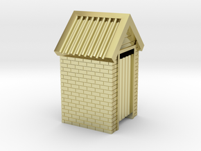 N Scale Brick Outdoor Toilet Dunny 1:160 in 18k Gold