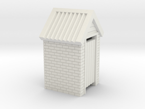 N Scale Brick Outdoor Toilet Dunny 1:160 in White Strong & Flexible
