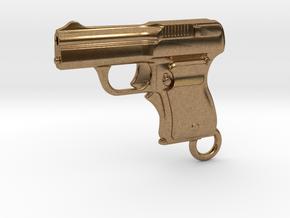 Schwarzlose Gun 1909 Keychain in Natural Brass