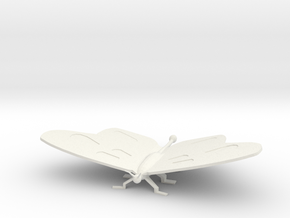 Butterfly Sculpture in White Natural Versatile Plastic