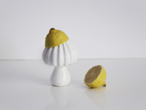 Mushy - Lemon squeezer in Gloss White Porcelain