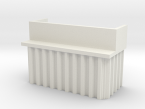 N Scale Bridge Abutment Sheet Piling (H55 W80) in White Natural Versatile Plastic