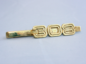 TIE CLIP 308 in Polished Gold Steel