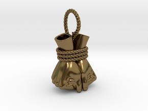 Bound Hands in Polished Bronze