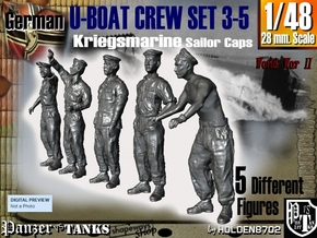 1-48 German U-Boot Crew Set3-5 in Frosted Ultra Detail