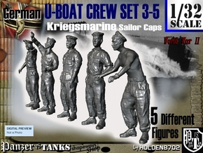 1-32 German U-Boot Crew Set3-5 in Frosted Ultra Detail
