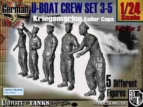1-24 German U-Boot Crew Set3-5 in White Natural Versatile Plastic