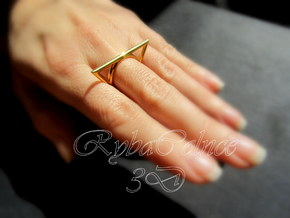 Ring The triangle II/ size 6 US (16.5 mm) in Polished Bronze