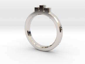 DIAMONDS in Rhodium Plated Brass: Extra Small