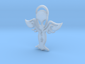 Aliens are the Angels with spread  wings.2 earring in Smooth Fine Detail Plastic