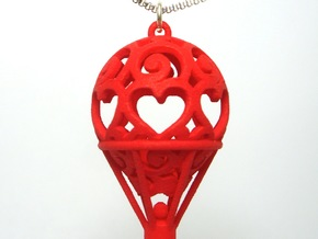 Hot Air Balloon Pendant 01 in White Natural Versatile Plastic