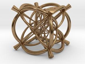 Vertex centered 24-Cell  in Natural Brass