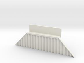 N Bridge Abutment Sheet Piling Sloped (H55 W in White Strong & Flexible