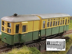009 Sentinel Railcar Short Coach in White Processed Versatile Plastic
