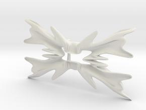 Bowtie flower in White Natural Versatile Plastic