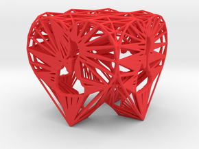 3D Printed Block Island Heart Tea Light in Red Processed Versatile Plastic