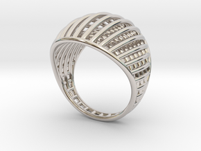 Ring The Design / size 10GK 5US ( 16.1 mm) in Rhodium Plated Brass
