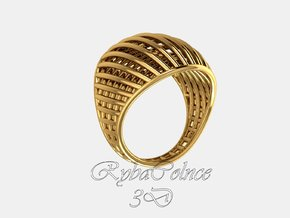 Ring The Design / size 10GK 5US ( 16.1 mm) in Polished Bronze