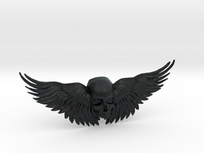 Winged Skull ring  in Black Hi-Def Acrylate: 10.5 / 62.75