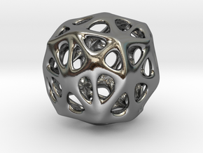 Organic Sphere in Polished Silver