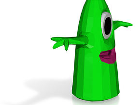 One Eye Alien Slime in White Natural Versatile Plastic: Extra Small