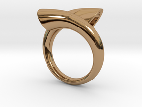 Ring biconico acuto in Polished Brass: 10 / 61.5
