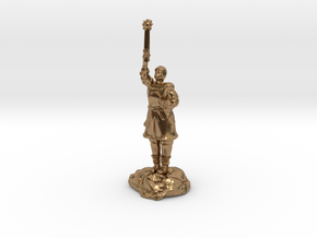 Human Cleric Zealot Of Pelor with Mace in Natural Brass