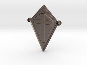 cross101916-ch in Polished Bronzed Silver Steel