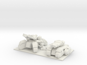1/350 SeigeTank Both Tank and Seige Modes in White Strong & Flexible