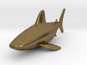 Shark miniature in Natural Bronze: Small