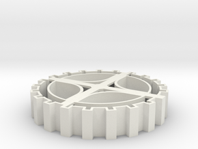 Steampunk gear Cookie Cutter 3 in White Strong & Flexible