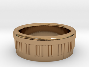 Piano Ring Ø0.805 inch - Ø20.44 mm in Polished Brass