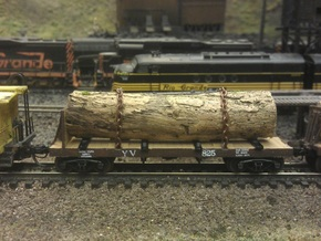 Yosemite Bulk Head Log Car x2 - N Scale 1:160 in Frosted Ultra Detail