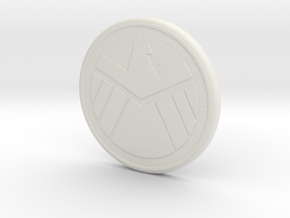 Sheild Decal in White Natural Versatile Plastic