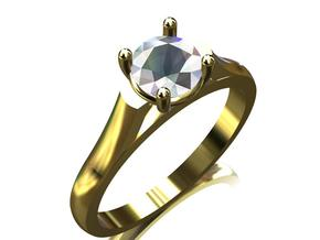 CCW15 Solitaire Ring in Smooth Fine Detail Plastic
