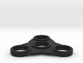 The Tsar - Fidget Spinner in Black Natural Versatile Plastic