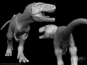 Lythronax 1/40 Roaring in White Natural Versatile Plastic