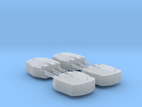 1/600 RN Triple 6 Inch MKXXIII Turrets (4) in Smoothest Fine Detail Plastic